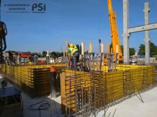 Július elején megkezdtük a Bosch Campus 2 projekt C2 irodaépület csúszózsalujának előkészületeit, majd kiszerelését