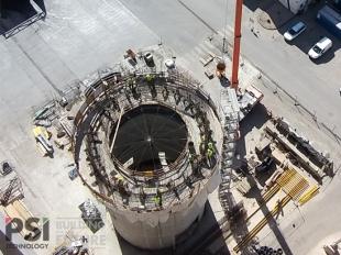 Szeptemberben elkészült a cementgyár bypass siló csúszózsalus kivitelezése Királyegyházán