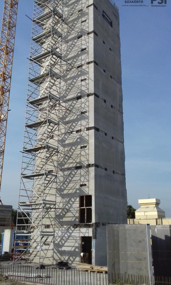 Lakóépület lift és lépcsőház magjainak csúszózsalus kivitelezése (BRA)