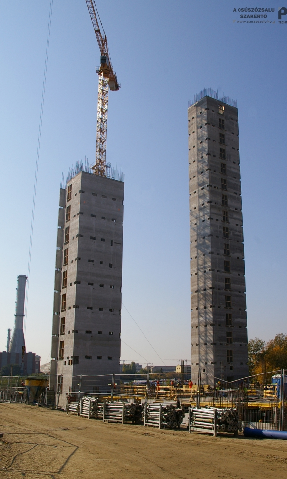 Structural construction of residential building communication and elevator shafts (BRB) using slipforming technology