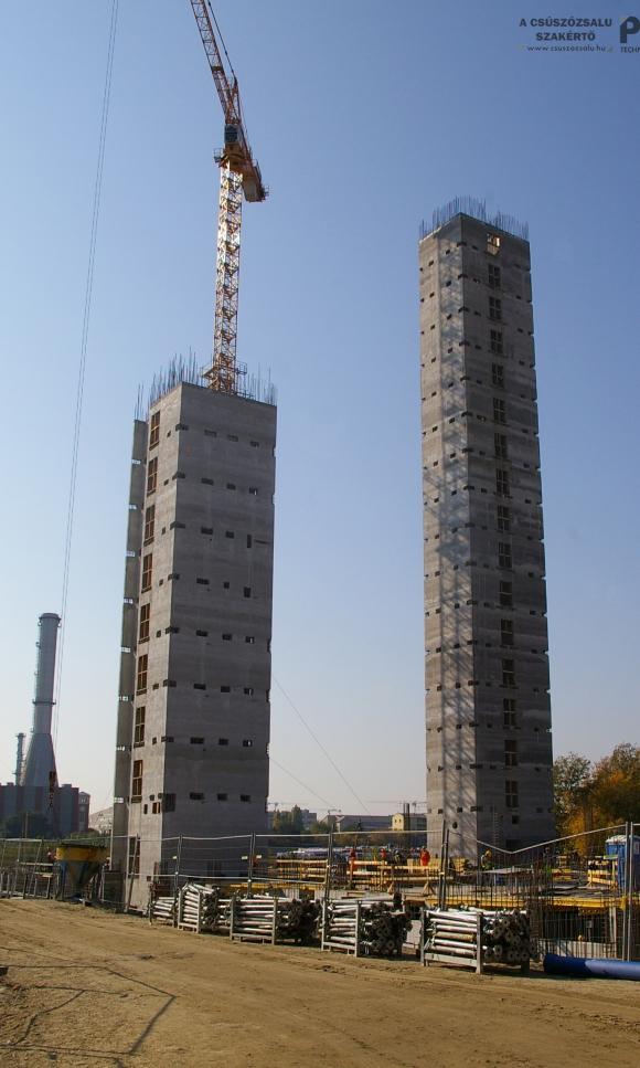 Lakóépület lift és lépcsőház magjainak csúszózsalus kivitelezése (BRB)