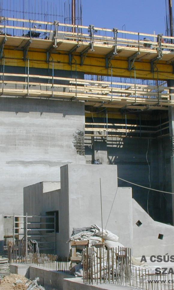 Slipform construction of cement mill
